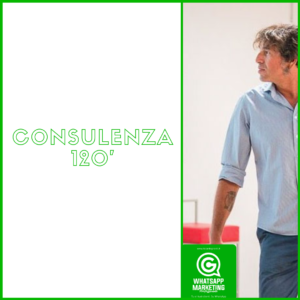 Consulenza 120 solo titolo whatsapp marketing professionale