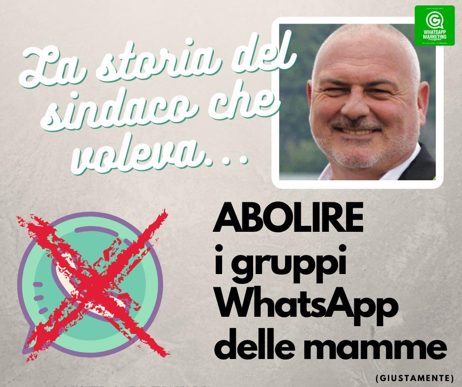 Il sindaco che voleva abolire i Gruppi WhatsApp delle mamme